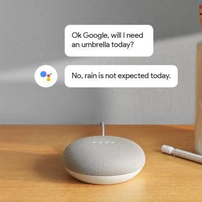 Google Home Mini (Chalk)-9770