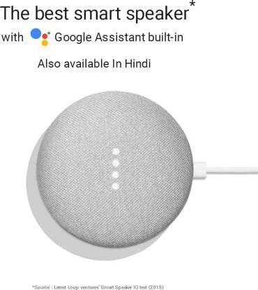 Google Home Mini (Chalk)-9777
