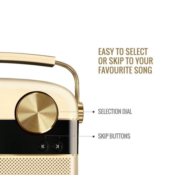 Saregama Carvaan Portable Digital Music Player (Champagne Gold) - Sound by Harman/Kardon-8502