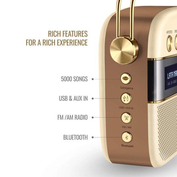 Saregama Carvaan 2.0 Portable Digital Music Player (Champagne Gold) - Sound by Harman/Kardon-8521