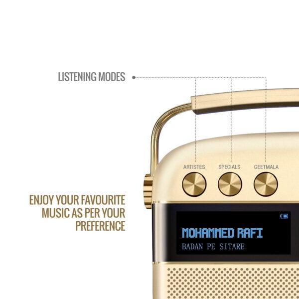 Saregama Carvaan Portable Digital Music Player (Champagne Gold) - Sound by Harman/Kardon-8500