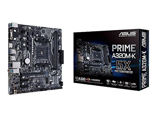 ASUS Prime A320M-K AM4 uATX Motherboard With LED lighting DDR4 32Gb/s M.2 HDMI SATA 6Gb/s USB 3.0-8571