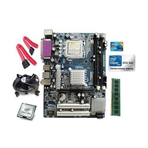 Intel Core 2 Duo E8400 3.0 GHZ + Zebronics G41 DDR3 Motherboard + 4 GB DDR3 RAM-0