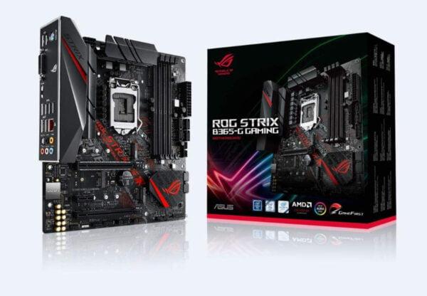 ASUS ROG Strix B365-G Gaming mATX Gaming Motherboard for Intel 8th and 9th Gen CPUs (300 Series 1155 Socket)-0