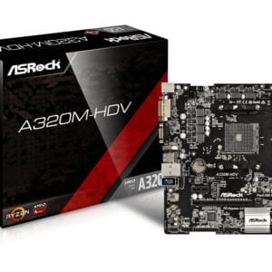 ASRock Super Alloy A320M-HDV Motherboard with Ultra M.2 (PCIe Gen3 x4 & SATA3) Supports Ryzen 3 Series brand new box little damage-0