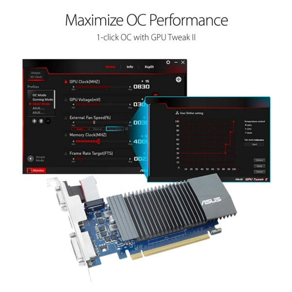 ASUS GeForce GT 710 2GB GDDR5 HDMI VGA DVI Graphics Card Graphic Cards (DDR5 Supports DDR3)-8620