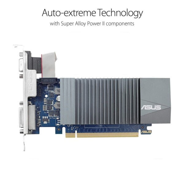 ASUS GeForce GT 710 2GB GDDR5 HDMI VGA DVI Graphics Card Graphic Cards (DDR5 Supports DDR3)-8621