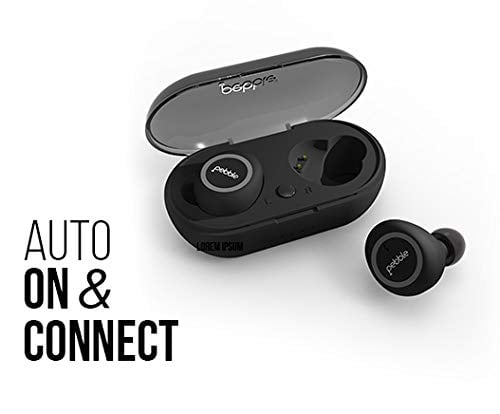 Pebble Duo True Wireless Earbuds (TWS Bluetooth 5.0) with Magnetic Charging Case, HD Stereo Sound, IPX5 Waterproof and Inbuilt-Mic-8942