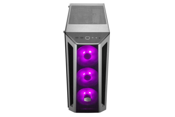 Cooler Master MasterBox MB520 RGB Steel/Plastic/Tempered Glass ATX Mid Tower Computer Case Cabinet (Black)-9023