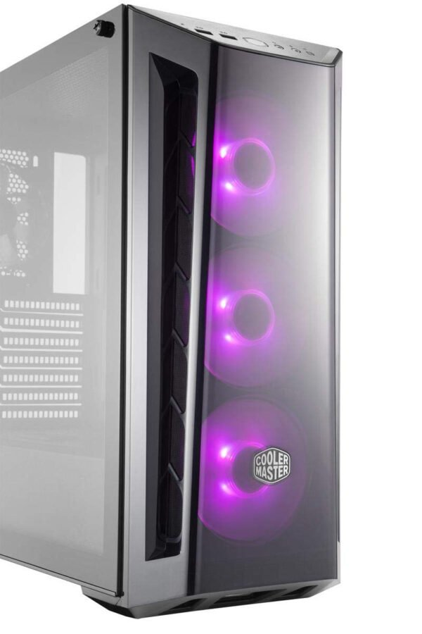 Cooler Master MasterBox MB520 RGB Steel/Plastic/Tempered Glass ATX Mid Tower Computer Case Cabinet (Black)-9012
