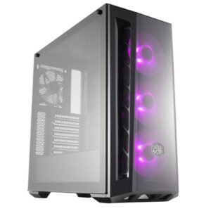 Cooler Master MasterBox MB520 RGB Steel/Plastic/Tempered Glass ATX Mid Tower Computer Case Cabinet (Black)-0