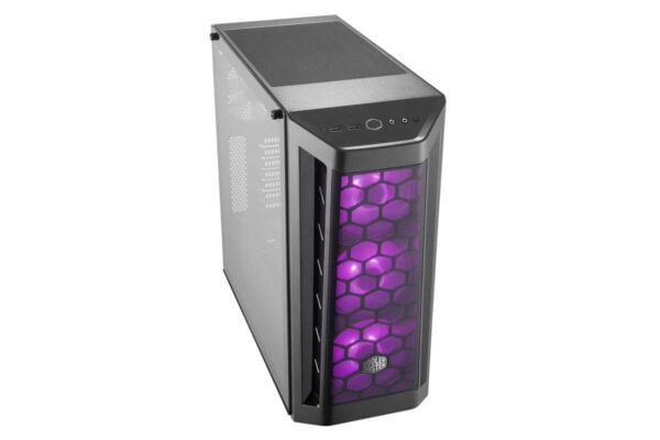 Cooler Master Box MB511 RGB Steel/Plastic/Tempered Glass ATX Mid Tower Computer Case Cabinet (Black)-8996