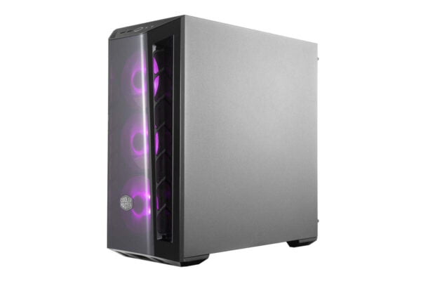 Cooler Master MasterBox MB520 RGB Steel/Plastic/Tempered Glass ATX Mid Tower Computer Case Cabinet (Black)-9014
