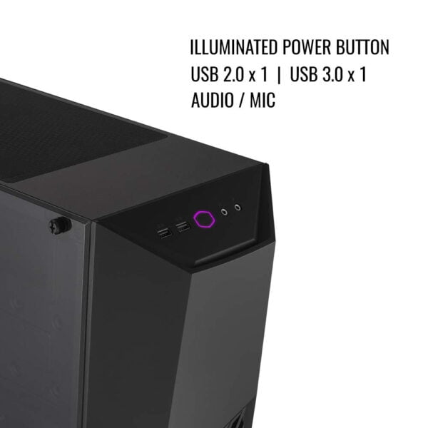 Cooler Master MasterBox K501L RGB Mid Tower Gaming Cabinet with Pre-Installed Fans and Tempered Glass Side Panel-9025
