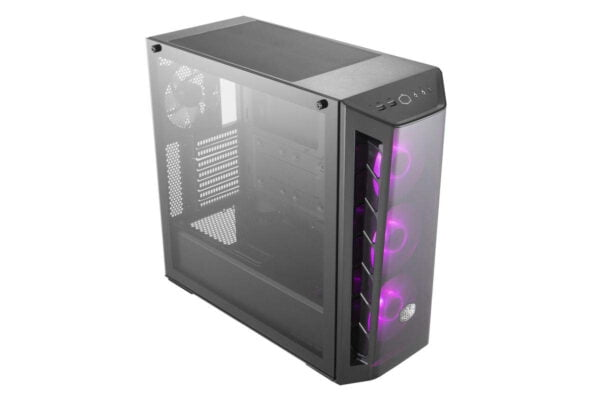 Cooler Master MasterBox MB520 RGB Steel/Plastic/Tempered Glass ATX Mid Tower Computer Case Cabinet (Black)-9019