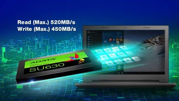 ADATA SU630 240GB 3D-NAND SATA 2.5 Inch Internal SSD (ASU630SS-240GQ-R)-8975