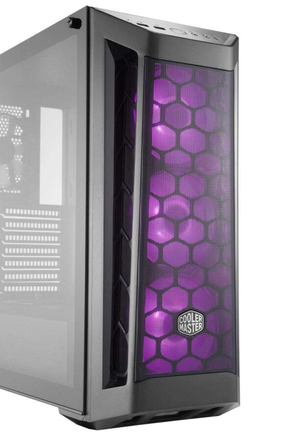 Cooler Master Box MB511 RGB Steel/Plastic/Tempered Glass ATX Mid Tower Computer Case Cabinet (Black)-9006