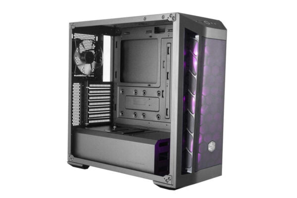 Cooler Master Box MB511 RGB Steel/Plastic/Tempered Glass ATX Mid Tower Computer Case Cabinet (Black)-9008