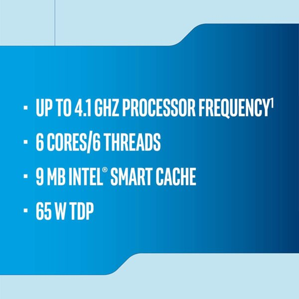 Intel Corporation Core i5 9400F 9th Generation Desktop Processor 6 Cores up to 4.1 GHz Turbo Without Graphics LGA1151 300 Series 65W (Discrete Graphic Card Needed for Display)-8736