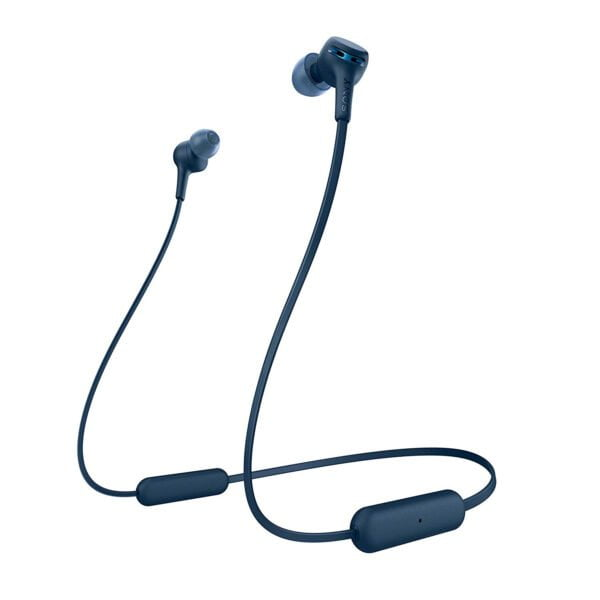 Sony WI-XB400 Wireless in-Ear Extra Bass Headphones with Neck-Band Design - Blue(100% Untouched,New with Warranty) (Packing Damage Only)-0