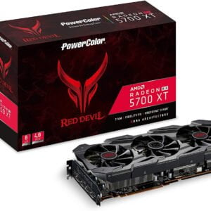PowerColor RED Devil Radeon RX 5700 XT DirectX 12 AXRX 5700 XT 8GBD6-3DHE/OC 8GB 256-Bit GDDR6 PCI Express 4.0 CrossFireX Support ATX Video Card-0