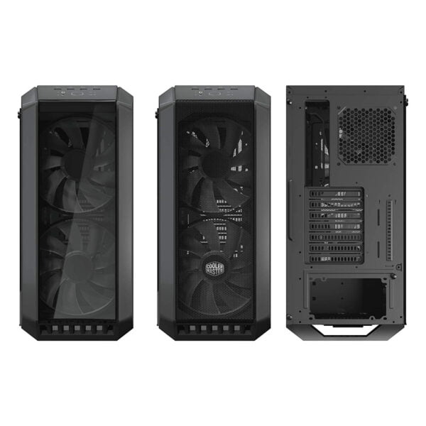 Cooler Master MasterCase H500 ATX Mid-Tower, Tempered Glass Panel, Two 200mm RGB Fans with Controller and Case Handle for Transport Cabinet-8984