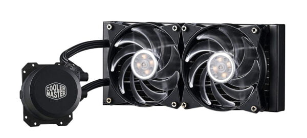 Cooler Master MasterLiquid ML240L RGB All-in-one Liquid CPU Cooler with Dual Chamber Pump Latest Intel/AMD Support-9075