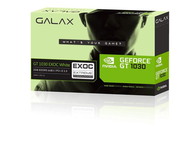 GALAX GeForce® GT 1030 EXOC White 2GB GDDR5 64-bit HDMI 3.0/DVI-D/384 Cuda core/DirectX-12 Graphics Card-0