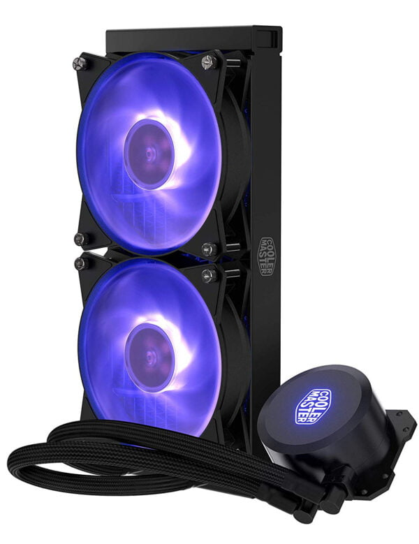 Cooler Master MasterLiquid ML240L RGB All-in-one Liquid CPU Cooler with Dual Chamber Pump Latest Intel/AMD Support-9078