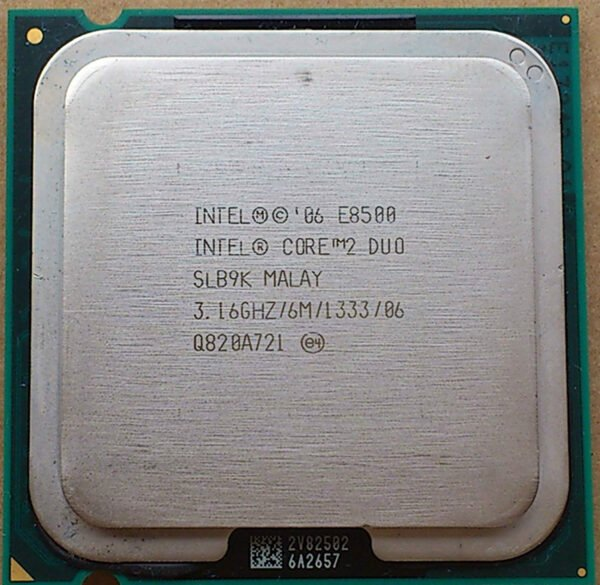 In tel Core 2 Duo E8500 Dual-Core Processor 3.16 GHz 6M L2 Cache 1333MHz FSB LGA775 - Tray OEM-8739