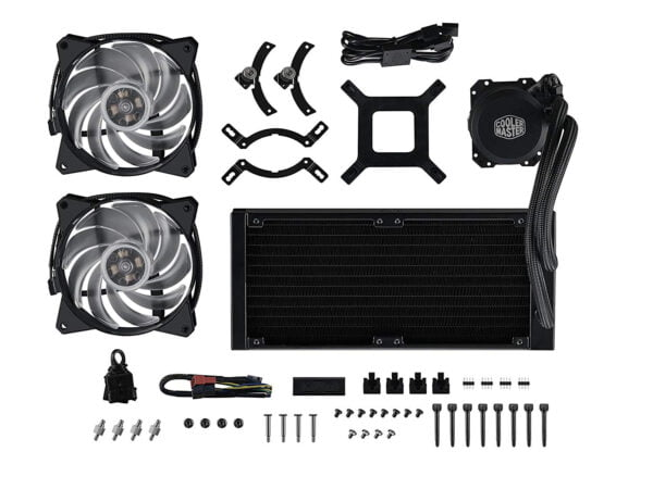 Cooler Master MasterLiquid ML240L RGB All-in-one Liquid CPU Cooler with Dual Chamber Pump Latest Intel/AMD Support-9079