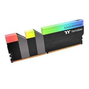 Thermaltake Toughram RGB DDR4 3200MHz 16GB (8GB x 2) 16.8 Million Color RGB Alexa/Razer Chroma/5V Motherboard Syncable RGB Memory R009D408GX2-3200C16A-0