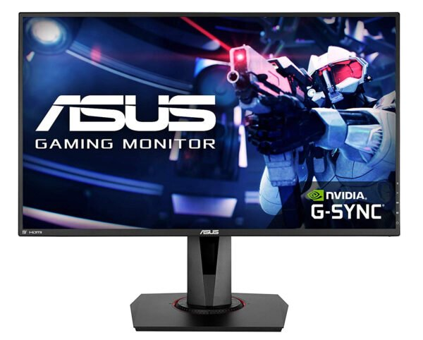 """ASUS VG278QR, 27"""" Full HD (1920x1080) Nvidia G-SYNC Compatible Esports Gaming Monitor, 0.5ms, Up to 165 Hz, DP, HDMI, DVI, FreeSync, Low Blue Light, Flicker Free, TUV Certified-0"""