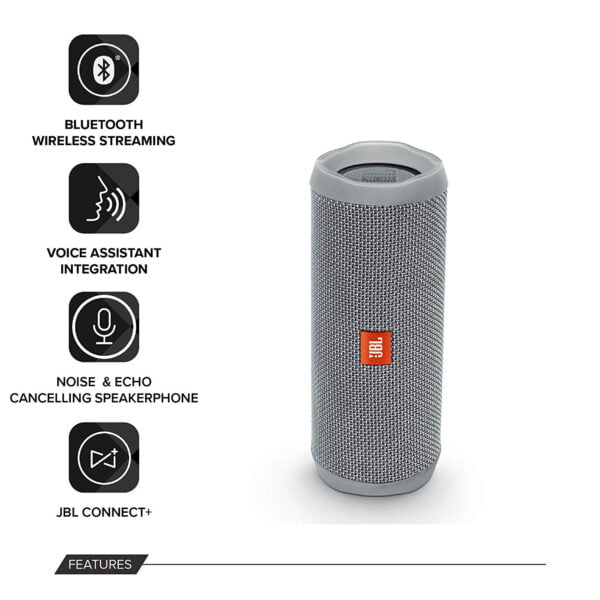 JBL Flip 4 Portable Wireless Speaker with Powerful Bass & Mic (Squad)-9196