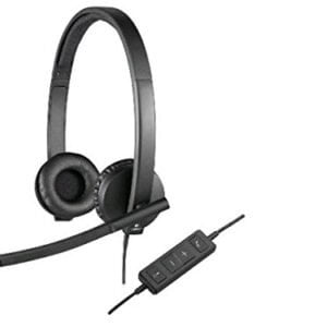 Logitech USB H570e Corded Double-Ear Headset (981-000574)-0