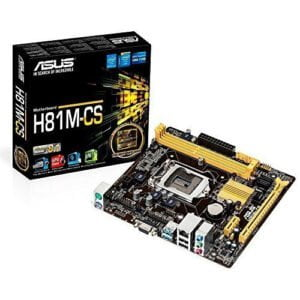 Asus H81M-CS Great-value H81 micro-ATX motherboard with high stability and durability, with easy-to-use UEFI BIOS and ASUS AI Suite 3 tuning utility.-0