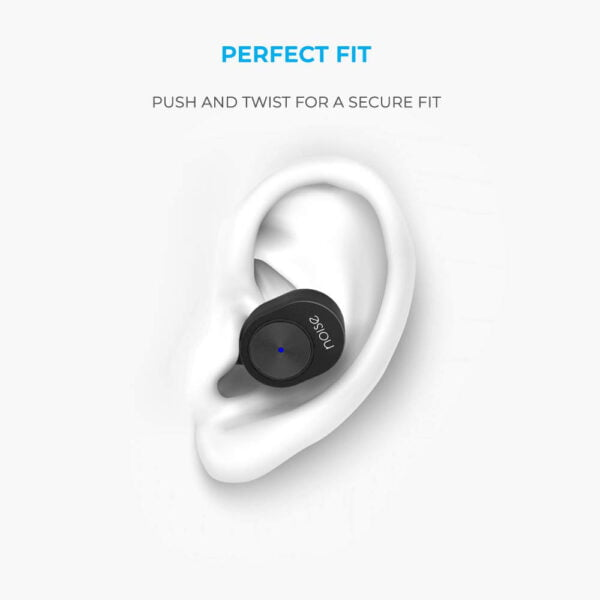Noise Shots Sport True Wireless In-Ear Earbuds/Earphones (Bluetooth V5.0) with Magnetic Charging Case (450mAh), Voice Assistant/Siri with In-Built Mic, Rated IPX4, Compatible with Android & Ios (Black)-9482