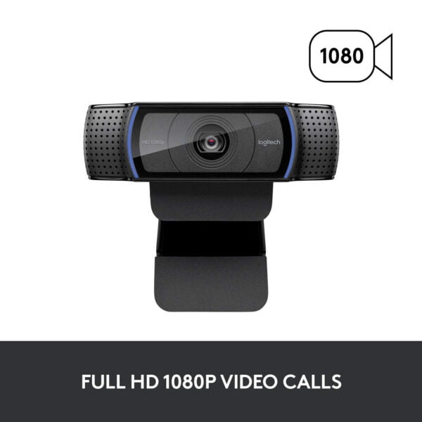 Logitech C920 HD PRO Webcam,1080P Widescreen Video Calling And Recording-9614