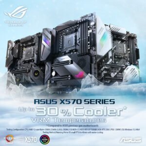 Asus AMD AM4 X570 ATX TUF gaming motherboard with PCIe 4.0, dual M.2, 14 Dr. MOS power stages, HDMI, DP, SATA 6Gb/s, USB 3.2 Gen 2 and Aura Sync RGB lighting-0