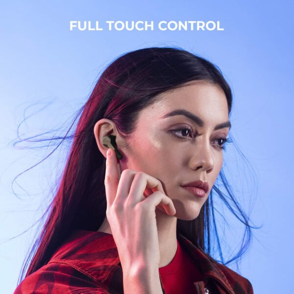 Noise Shots X-Buds Truly Wireless in-Ear Headphones Bluetooth 5.0, Smart Touch Control,Upto 16 Hours of Playtime with Charging Case,Voice Assistant, Rated IPX5 Waterproof and Sweatproof (Matte Black)-9478