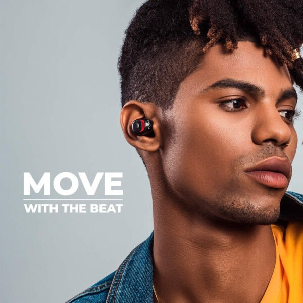 Noise Shots X5 Charge Truly Wireless Bluetooth Earbuds Earphones with Charging Case (Hot Black)-9472