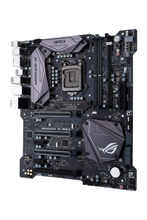Asus Intel Z270 EATX enthusiast motherboard with record-breaking performance, Aura Sync RGB LEDs, DDR4 4266MHz, DIMM.2 dual M.2 expansion card, and USB Type-A/C.-9407