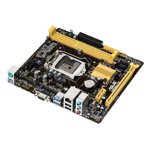 Asus H81M-CS Great-value H81 micro-ATX motherboard with high stability and durability, with easy-to-use UEFI BIOS and ASUS AI Suite 3 tuning utility.-9436