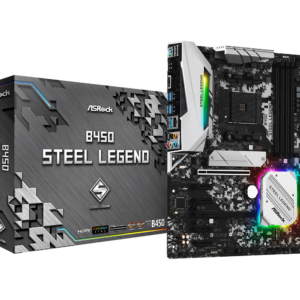ASRock B450 Steel Legend Socket AM4/ AMD 3rd Generation Ryzen B450/ DDR4/ Quad CrossFireX/ SATA3&USB3.1/ M.2/ A&GbE/ATX Motherboard-0