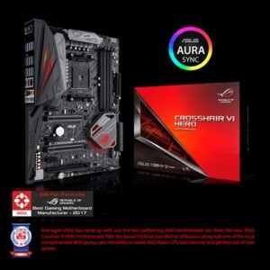 Asus AMD X370 ATX Gaming motherboard with Aura Sync RGB LEDs, DDR4 3200MHz, M.2, USB 3.1 front-panel connector and type-A/C-0