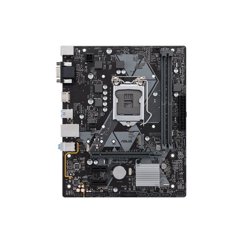 Asus Intel H310M-E 8th and 9th Gen I3, I5 and I7 LGA-1151 mATX motherboard with LED lighting, DDR4 2666MHz / 2400MHz / 2133MHz , M.2 support, HDMI USB 3.1-9433