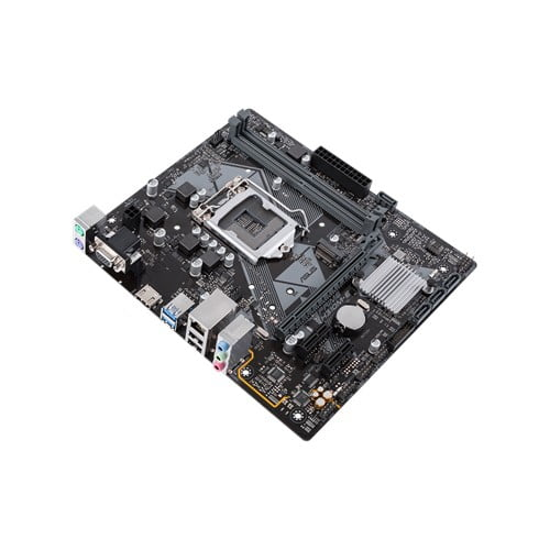 Asus Intel H310M-E 8th and 9th Gen I3, I5 and I7 LGA-1151 mATX motherboard with LED lighting, DDR4 2666MHz / 2400MHz / 2133MHz , M.2 support, HDMI USB 3.1-9434
