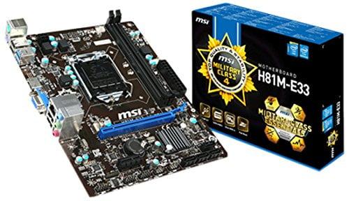 MSI H81M-E33 Socket LGA 1150 Motherboard-0