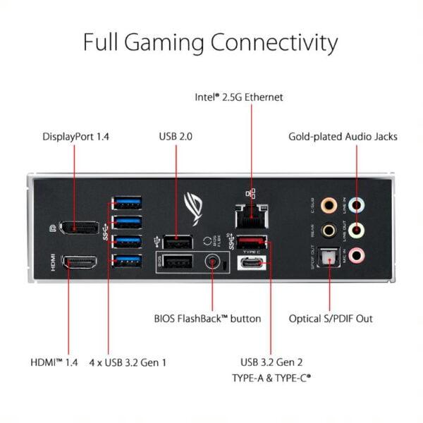 Asus ROG STRIX Z490-G GAMING Intel® LGA 1200 Socket for 10th Gen Intel® Core™, Pentium® Gold and Celeron® processors-9962