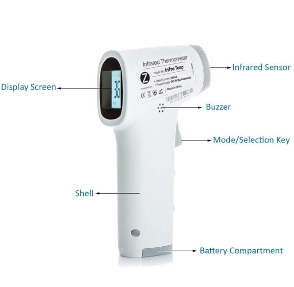 Zoook Infrared Temperature Forehead Medical Digital Non Contact Infrared (IR) Thermometer-9887